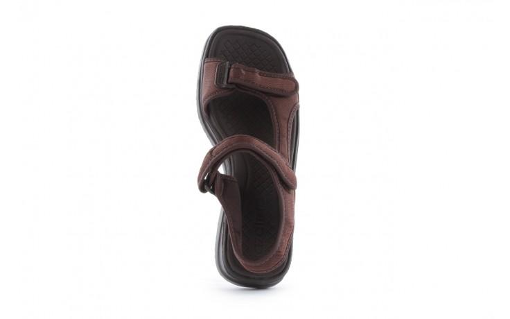 Sandały azaleia 320 323 brown 18, brąz, materiał - obuwie sportowe - buty damskie - kobieta 4