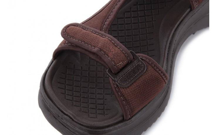 Sandały azaleia 320 323 brown 18, brąz, materiał - obuwie sportowe - buty damskie - kobieta 5