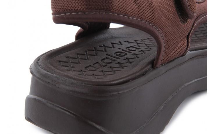 Sandały azaleia 320 323 brown 18, brąz, materiał - obuwie sportowe - buty damskie - kobieta 6
