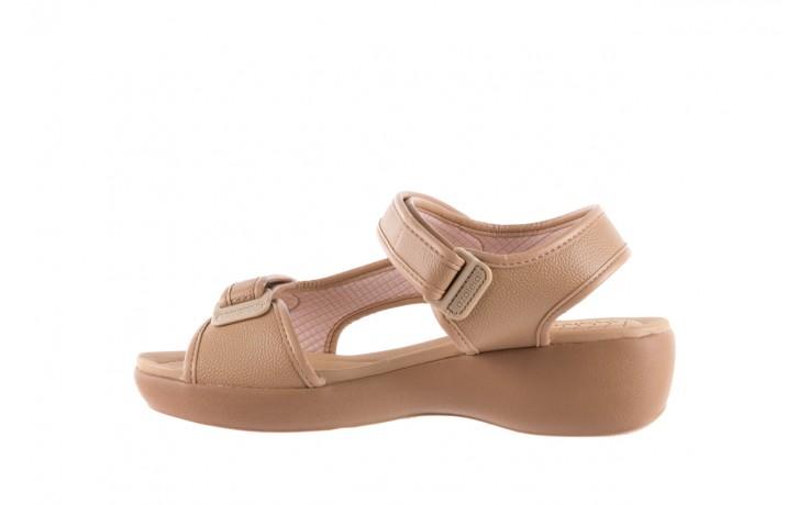 Sandały azaleia 346 602 napa beige, beż, materiał - na koturnie - sandały - buty damskie - kobieta 2