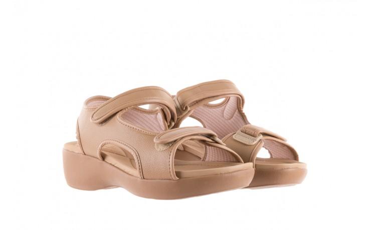 Sandały azaleia 346 602 napa beige, beż, materiał - na koturnie - sandały - buty damskie - kobieta 1