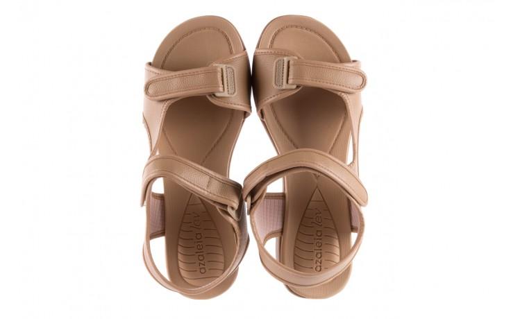 Sandały azaleia 346 602 napa beige, beż, materiał - na koturnie - sandały - buty damskie - kobieta 4