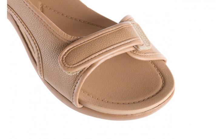 Sandały azaleia 346 602 napa beige, beż, materiał - na koturnie - sandały - buty damskie - kobieta 5