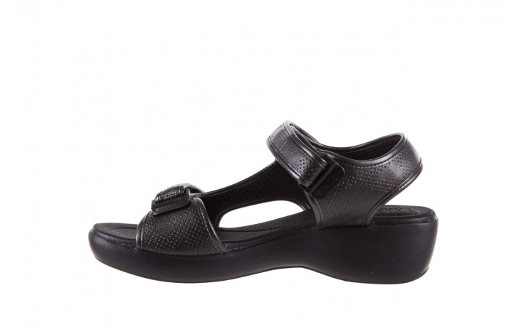 Sandały azaleia 346 602 perf black, czarny, materiał 2