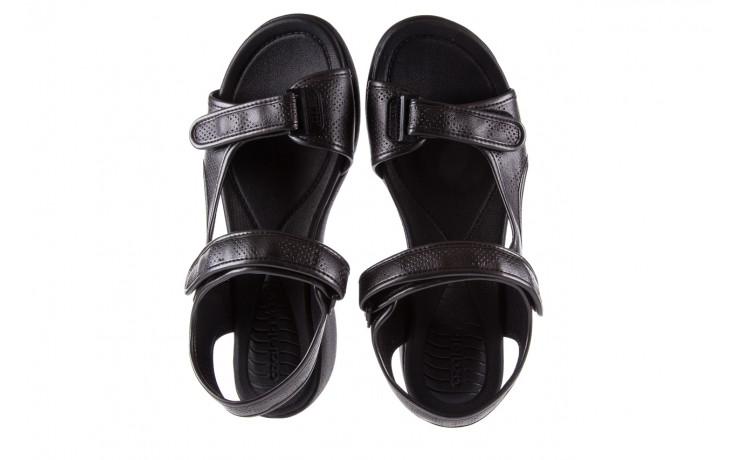 Sandały azaleia 346 602 perf black, czarny, materiał 4