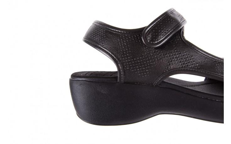 Sandały azaleia 346 602 perf black, czarny, materiał 5