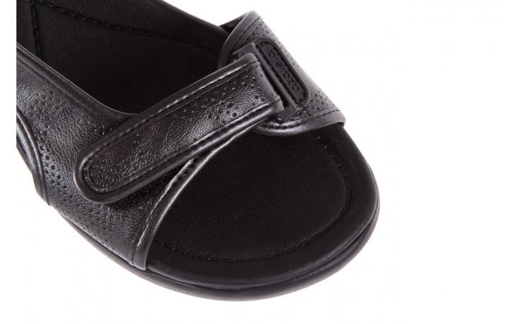 Sandały azaleia 346 602 perf black, czarny, materiał 6