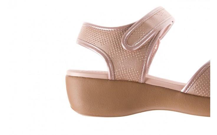 Sandały azaleia 346 601 perf iguan, beż, materiał - azaleia - nasze marki 5