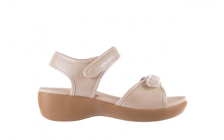 Sandały azaleia 346 601 perf ivory, beż, materiał  - azaleia - nasze marki
