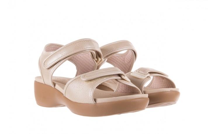 Sandały azaleia 346 601 perf ivory, beż, materiał  - azaleia - nasze marki 1