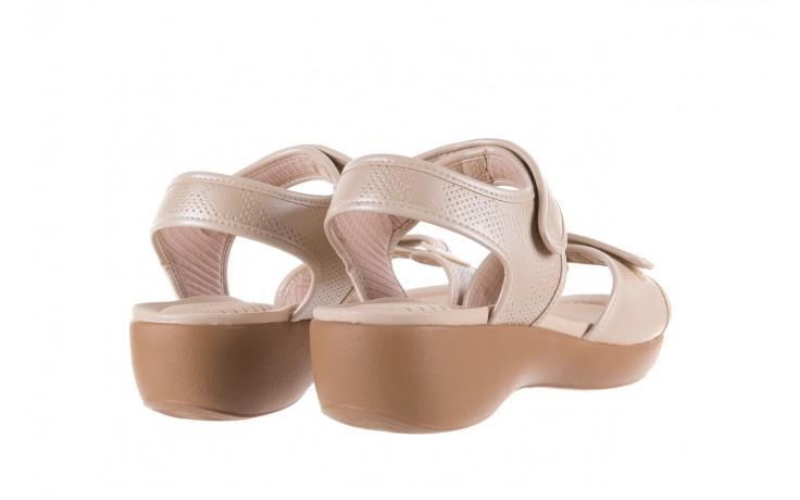 Sandały azaleia 346 601 perf ivory, beż, materiał  - azaleia - nasze marki 3
