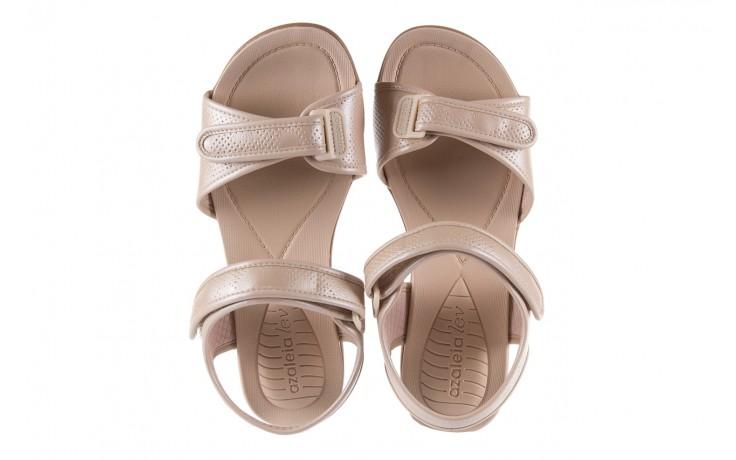 Sandały azaleia 346 601 perf ivory, beż, materiał  - azaleia - nasze marki 4