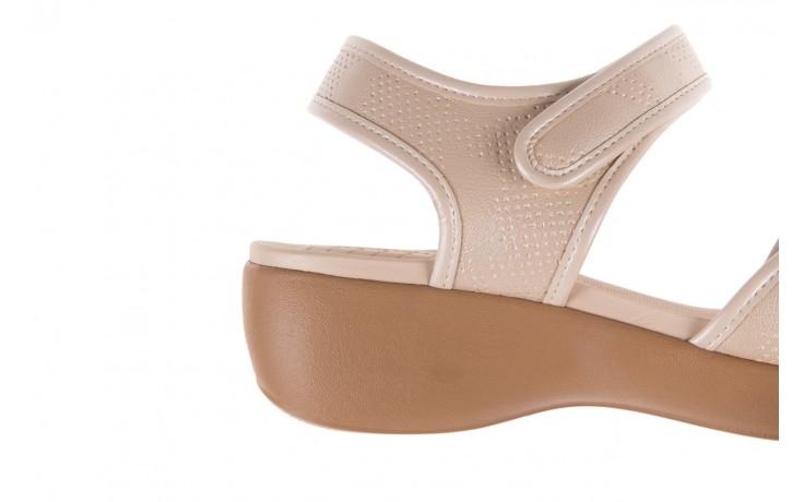 Sandały azaleia 346 601 perf ivory, beż, materiał  - azaleia - nasze marki 6