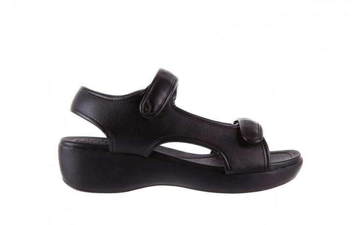 Sandały azaleia 346 602 napa black, czarny, materiał  - azaleia - nasze marki