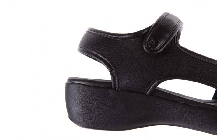 Sandały azaleia 346 602 napa black, czarny, materiał  - azaleia - nasze marki 5