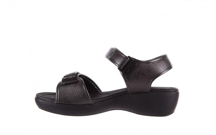 Sandały azaleia 346 601 perf black, czarny, materiał 2
