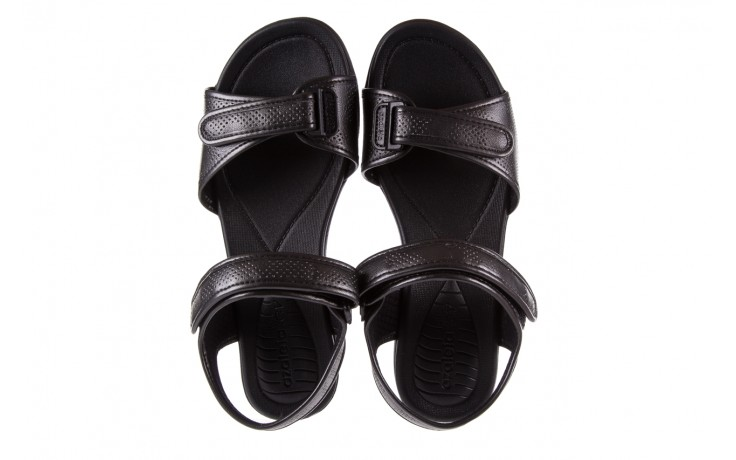 Sandały azaleia 346 601 perf black, czarny, materiał 4