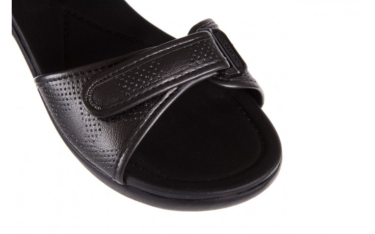 Sandały azaleia 346 601 perf black, czarny, materiał 5