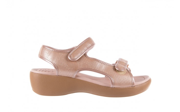 Sandały azaleia 346 602 perf iguan, róż, materiał - sandały - letnie hity cenowe