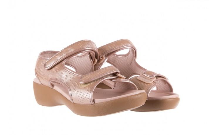 Sandały azaleia 346 602 perf iguan, róż, materiał - sandały - letnie hity cenowe 1