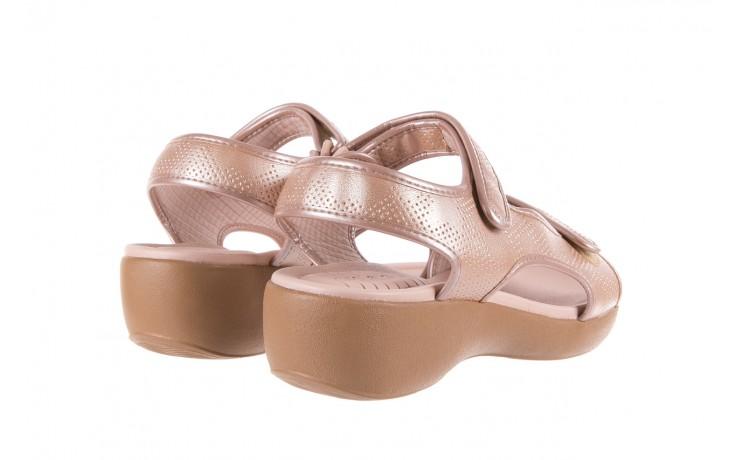 Sandały azaleia 346 602 perf iguan, róż, materiał - sandały - letnie hity cenowe 3