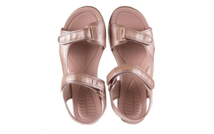 Sandały azaleia 346 602 perf iguan, róż, materiał - sandały - letnie hity cenowe 4