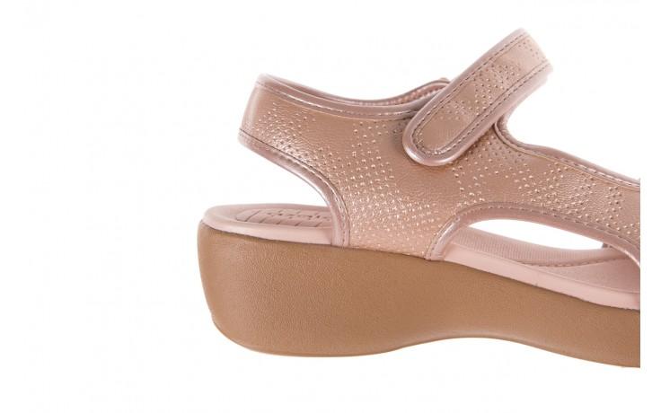 Sandały azaleia 346 602 perf iguan, róż, materiał - sandały - letnie hity cenowe 5