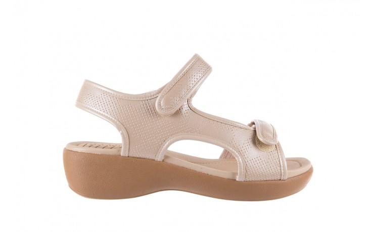 Sandały azaleia 346 602 perf ivory, beż, materiał