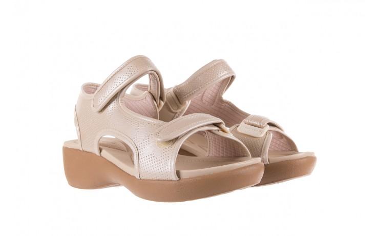 Sandały azaleia 346 602 perf ivory, beż, materiał 1