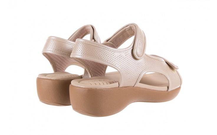 Sandały azaleia 346 602 perf ivory, beż, materiał 3