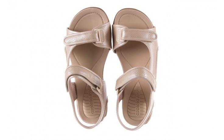 Sandały azaleia 346 602 perf ivory, beż, materiał 4