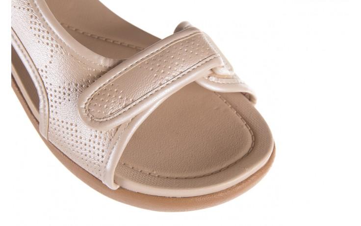 Sandały azaleia 346 602 perf ivory, beż, materiał 6