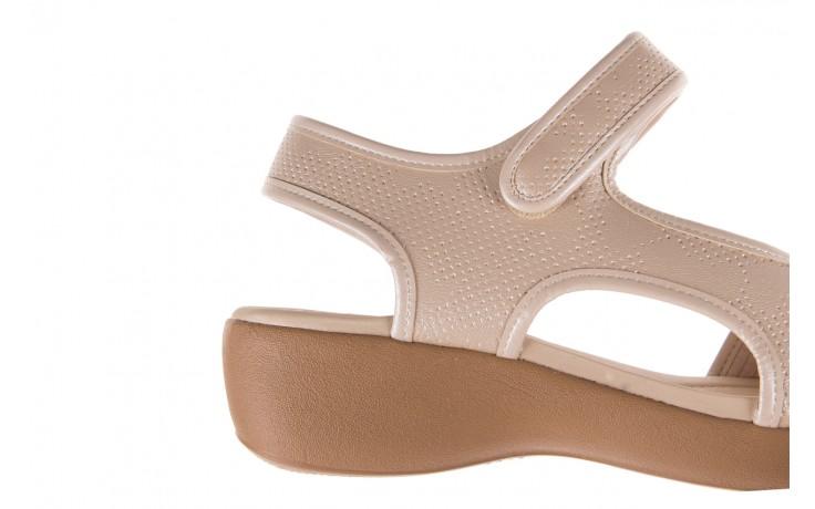 Sandały azaleia 346 602 perf ivory, beż, materiał 5