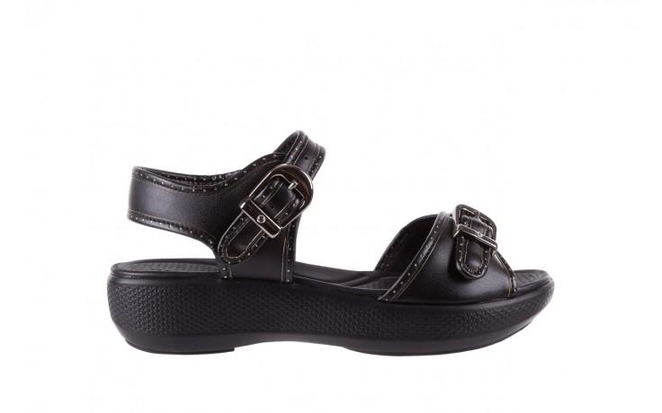 Sandały azaleia 355 788 napa black, czarny, materiał - sandały - letnie hity cenowe