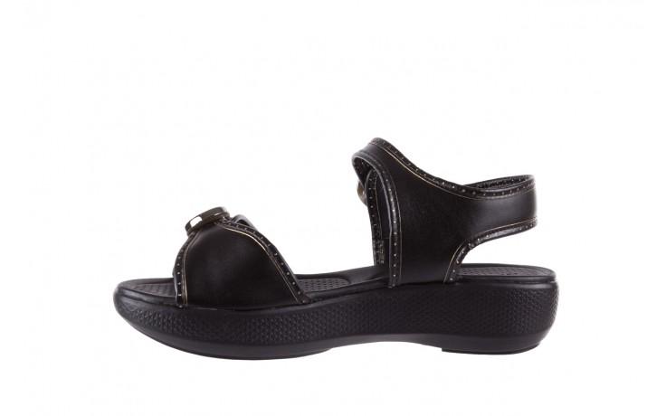 Sandały azaleia 355 788 napa black, czarny, materiał - sandały - letnie hity cenowe 2