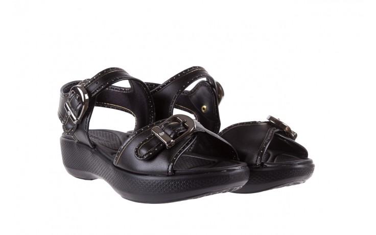 Sandały azaleia 355 788 napa black, czarny, materiał - sandały - letnie hity cenowe 1