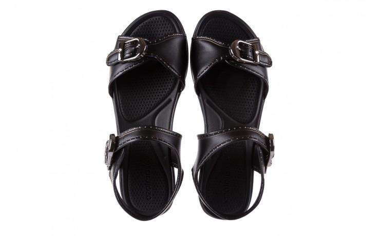 Sandały azaleia 355 788 napa black, czarny, materiał - sandały - letnie hity cenowe 4