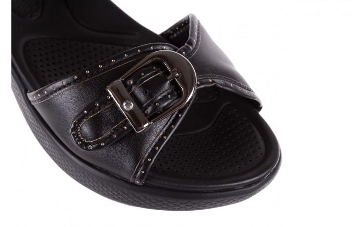 Sandały azaleia 355 788 napa black, czarny, materiał - sandały - letnie hity cenowe 5