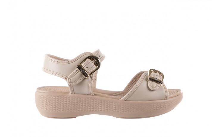 Sandały azaleia 355 788 napa ivory, beż, materiał - sandały - letnie hity cenowe