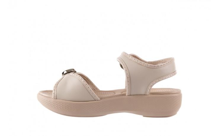 Sandały azaleia 355 788 napa ivory, beż, materiał - sandały - letnie hity cenowe 2