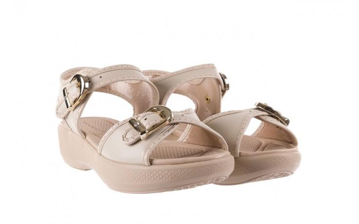 Sandały azaleia 355 788 napa ivory, beż, materiał - sandały - letnie hity cenowe 1