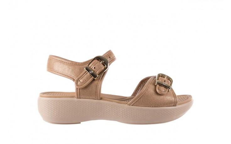 Sandały azaleia 355 789 point beige, beż, materiał - sandały - letnie hity cenowe