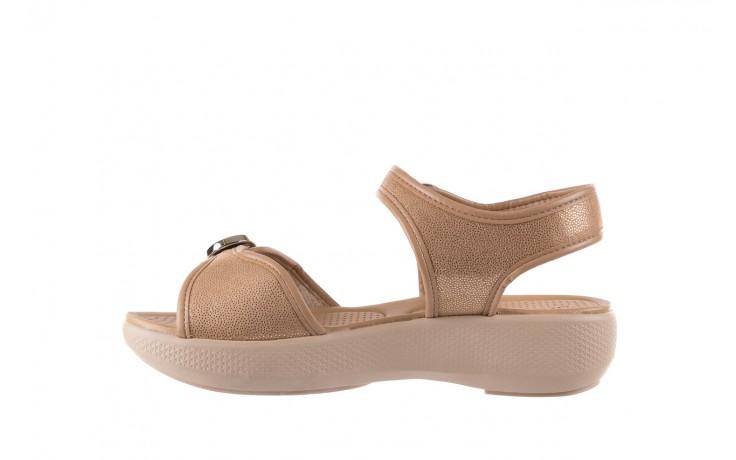Sandały azaleia 355 789 point beige, beż, materiał - sandały - letnie hity cenowe 2