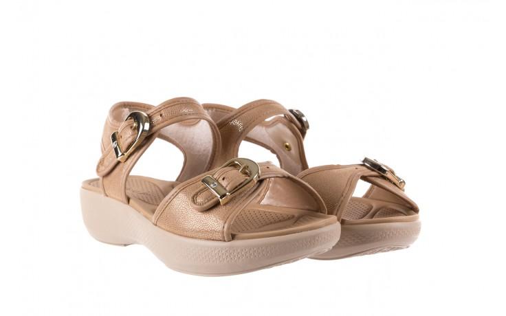 Sandały azaleia 355 789 point beige, beż, materiał - sandały - letnie hity cenowe 1