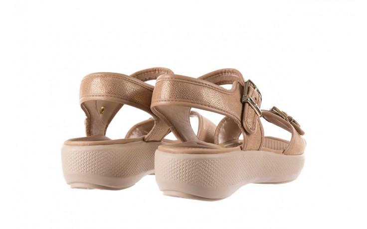 Sandały azaleia 355 789 point beige, beż, materiał - sandały - letnie hity cenowe 3