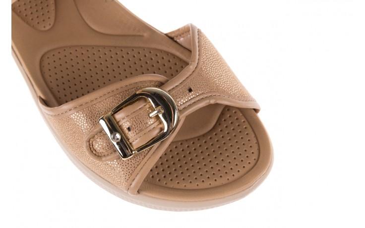 Sandały azaleia 355 789 point beige, beż, materiał - sandały - letnie hity cenowe 5