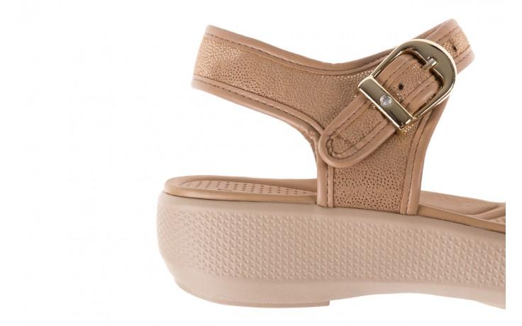 Sandały azaleia 355 789 point beige, beż, materiał - sandały - letnie hity cenowe 6