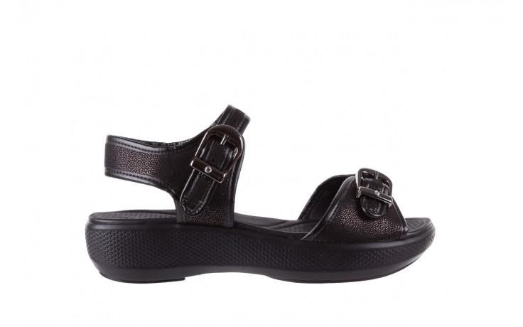 Sandały azaleia 355 789 point black, czarny, materiał - azaleia - nasze marki
