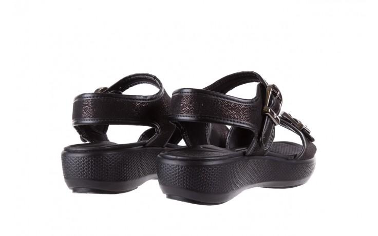 Sandały azaleia 355 789 point black, czarny, materiał - azaleia - nasze marki 3