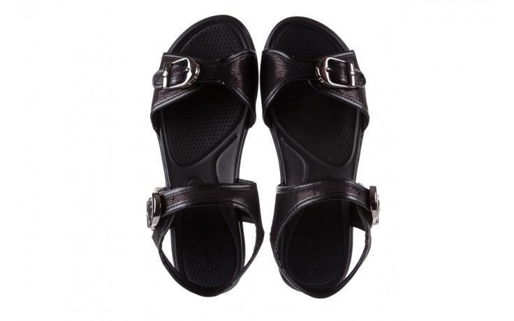 Sandały azaleia 355 789 point black, czarny, materiał - azaleia - nasze marki 4